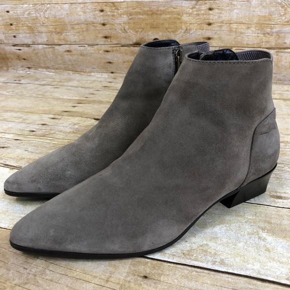 Aquatalia Grey Suede Ankle Booties